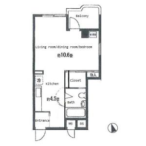 1K Mansion in Matsugaoka - Yokohama-shi Kanagawa-ku Floorplan