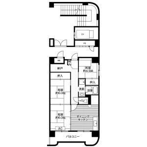 札幌市厚別区厚別西四条-3DK公寓大厦 楼层布局