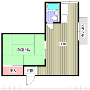 1R Apartment in Shimohozumi - Ibaraki-shi Floorplan