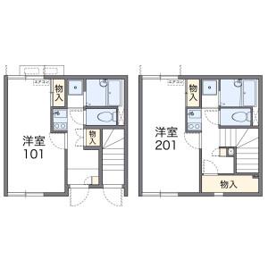 1K Apartment in Watanabedori - Fukuoka-shi Chuo-ku Floorplan