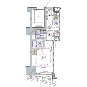 1K Mansion in Higashiikebukuro - Toshima-ku Floorplan