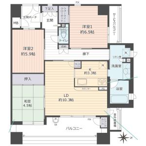 3LDK {building type} in Shoji - Toyonaka-shi Floorplan