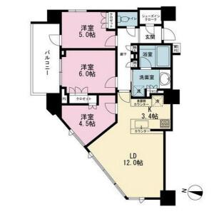 3LDK Mansion in Kudankita - Chiyoda-ku Floorplan