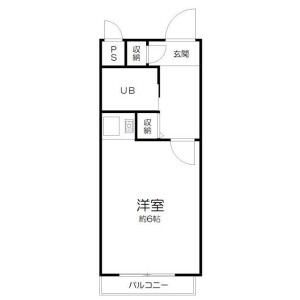 1R Mansion in Nakaochiai - Shinjuku-ku Floorplan