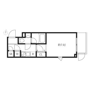 1K Mansion in Higashikomagata - Sumida-ku Floorplan