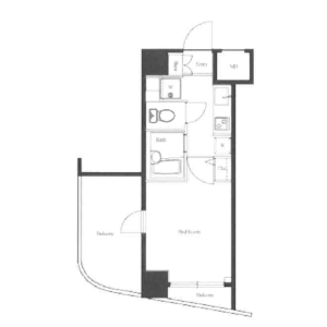 1K Mansion in Dogenzaka - Shibuya-ku Floorplan