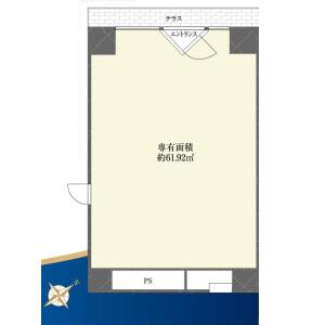 1R {building type} in Mita - Minato-ku Floorplan