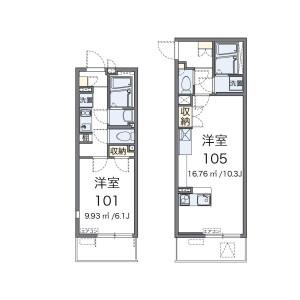 1K Mansion in Tajiri - Ichikawa-shi Floorplan