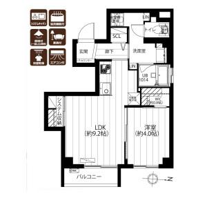 1LDK {building type} in Hakusan(2-5-chome) - Bunkyo-ku Floorplan