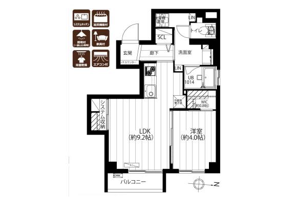 1LDK Apartment to Buy in Bunkyo-ku Floorplan