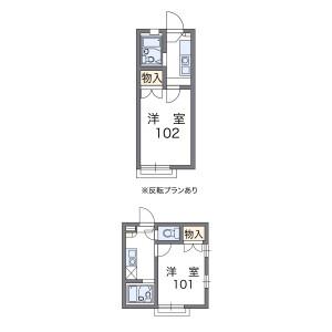 1K Apartment in Nanamatsucho - Amagasaki-shi Floorplan