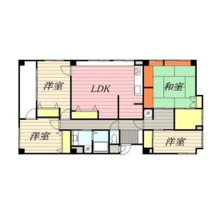 目黒区目黒-4LDK公寓大厦 楼层布局