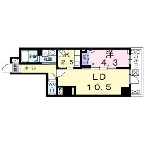 1LDK Mansion in Higashishinagawa - Shinagawa-ku Floorplan