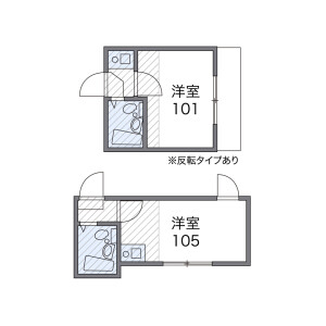 1R Apartment in Honkomagome - Bunkyo-ku Floorplan