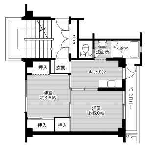 2K Mansion in Kobayashi - Fujioka-shi Floorplan