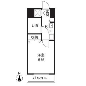川崎市高津區下作延-1K公寓大廈 房間格局