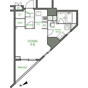 1R Mansion in Nishiikebukuro - Toshima-ku Floorplan