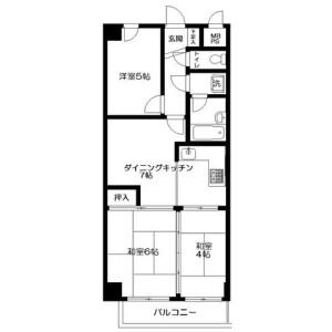3DK Mansion in Honkomagome - Bunkyo-ku Floorplan