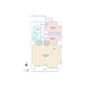 2LDK {building type} in Ebisu - Shibuya-ku Floorplan