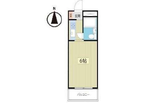 在習志野市内租赁1R 公寓大厦 的 楼层布局
