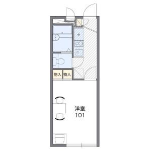 習志野市鷺沼台-1K公寓 楼层布局