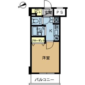 品川區西五反田-1K公寓大廈 房間格局