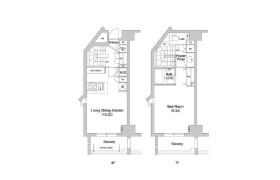 1LDK Apartment in Hanegi - Setagaya-ku