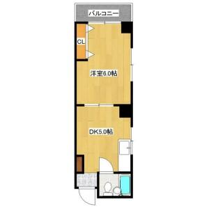 1DK Mansion in Chuocho - Meguro-ku Floorplan