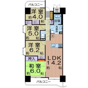 4LDK Apartment in Fukumuro - Sendai-shi Miyagino-ku Floorplan