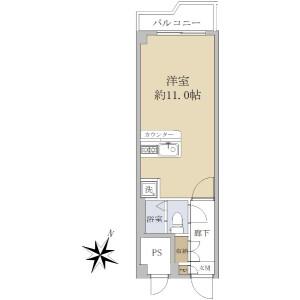 1R {building type} in Minamiaoyama - Minato-ku Floorplan