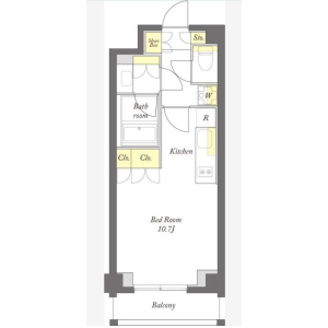 1R Mansion in Daizawa - Setagaya-ku Floorplan