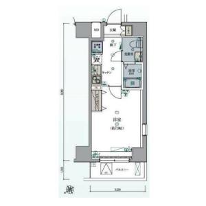 1K Mansion in Omorinaka - Ota-ku Floorplan