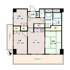 3DK Mansion in Arai - Nakano-ku Floorplan