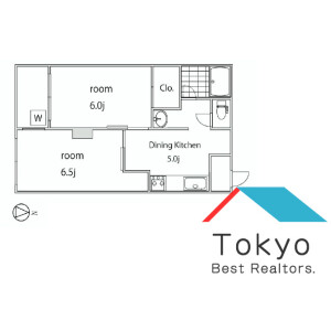 2DK Mansion in Shinanomachi - Shinjuku-ku Floorplan
