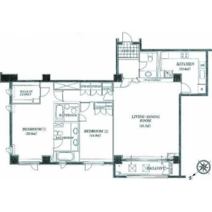 2LDK Mansion in Jingumae - Shibuya-ku Floorplan