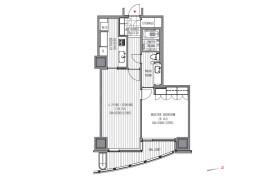 1LDK Apartment in Atago - Minato-ku