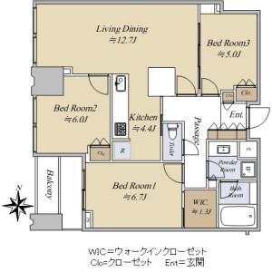 3LDK {building type} in Toyosu - Koto-ku Floorplan