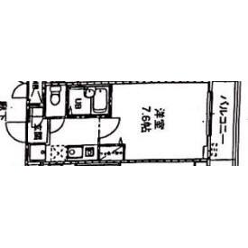 1K Mansion in Minatocho - Funabashi-shi Floorplan