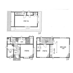 3SLDK House in Tomihisacho - Shinjuku-ku Floorplan
