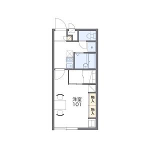 1K Apartment in Sagano nishinofujicho - Kyoto-shi Ukyo-ku Floorplan