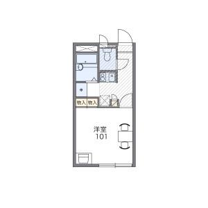 1K Apartment in Nishikahei - Adachi-ku Floorplan