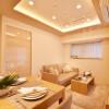 在新宿区购买2LDK 公寓大厦的 起居室