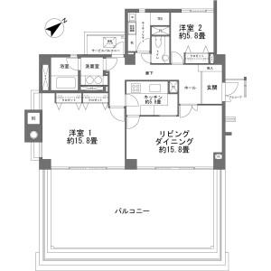2LDK {building type} in Momoyamacho - Atami-shi Floorplan