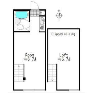 1SK Apartment in Nakameguro - Meguro-ku Floorplan