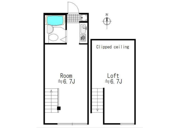 1SK Apartment to Rent in Meguro-ku Floorplan