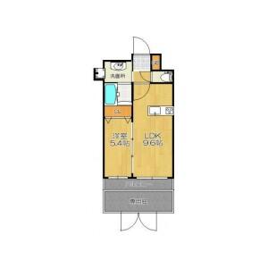 1LDK Mansion in Enokicho - Suita-shi Floorplan