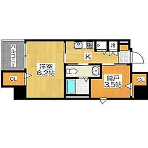 2K Mansion in Shukuyachohigashi - Sakai-shi Sakai-ku Floorplan