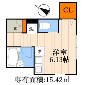1R Apartment in Arakawa - Arakawa-ku Floorplan