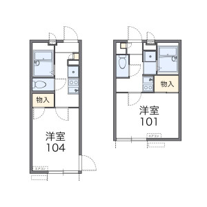 1K Apartment in Honan - Suginami-ku Floorplan