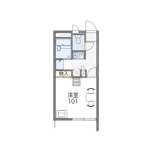 1K Mansion in Otsubo - Nagoya-shi Tempaku-ku Floorplan